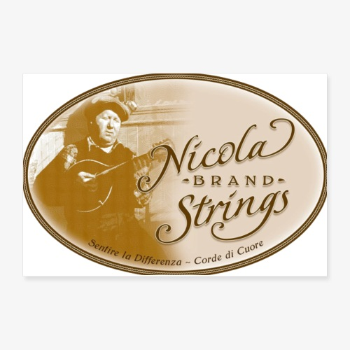 Nicola Brand Strings Logo - Poster 12x8