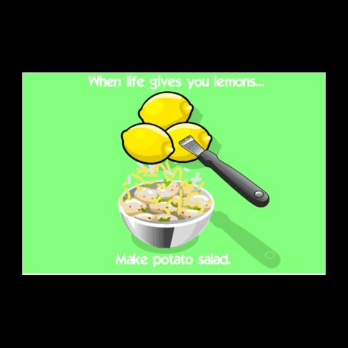 Lemon Tater Poster (Green) - Poster 12x8