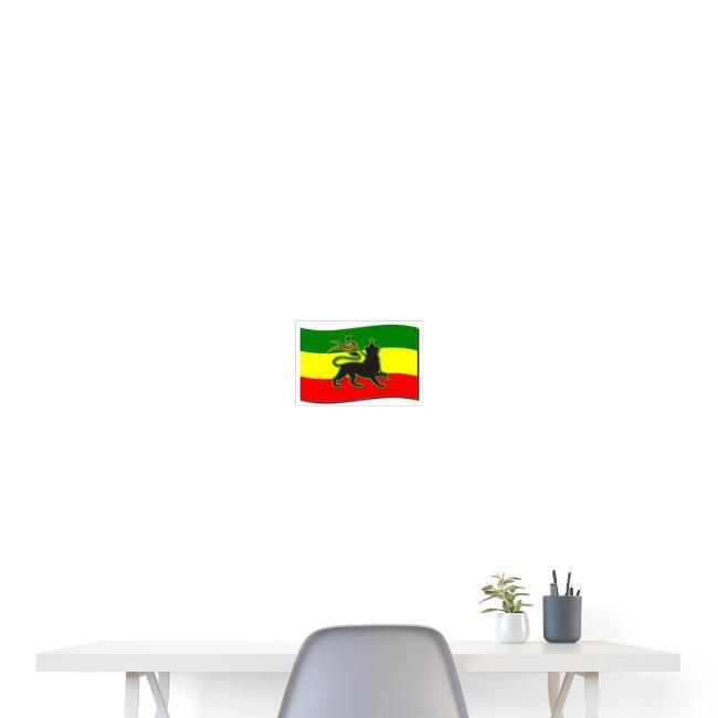Waving Rasta Flag w/ The Lion of Judah - Rasta
