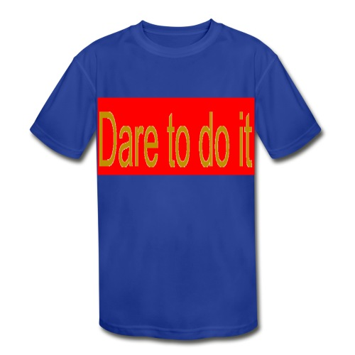 Dare to do it red - Kid's Moisture Wicking Performance T-Shirt