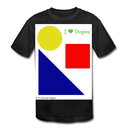 Hi I'm Ronald Seegers Collection-I Love Shapes - Kids' Moisture Wicking Performance T-Shirt