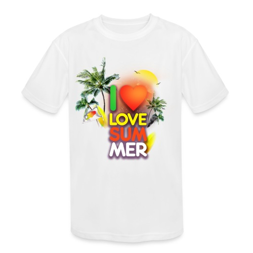 I love summer - Kids' Moisture Wicking Performance T-Shirt