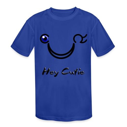 Hey Cutie Blue Eye Wink - Kids' Moisture Wicking Performance T-Shirt