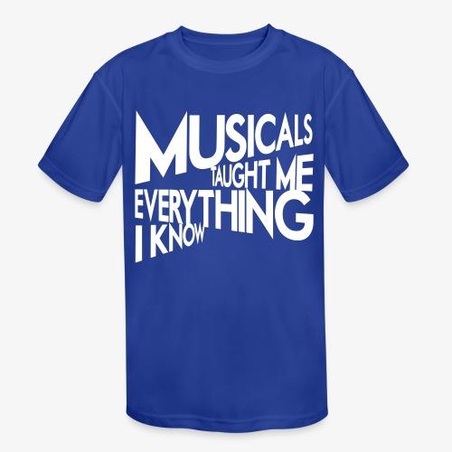 MTMEIK White Logo - Kids' Moisture Wicking Performance T-Shirt