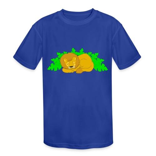 Sleeping Lion - Kids' Moisture Wicking Performance T-Shirt