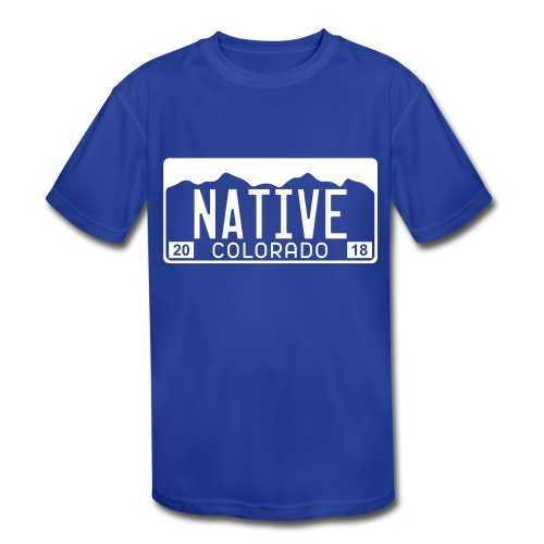 Colorado Native 2018 - Kids' Moisture Wicking Performance T-Shirt
