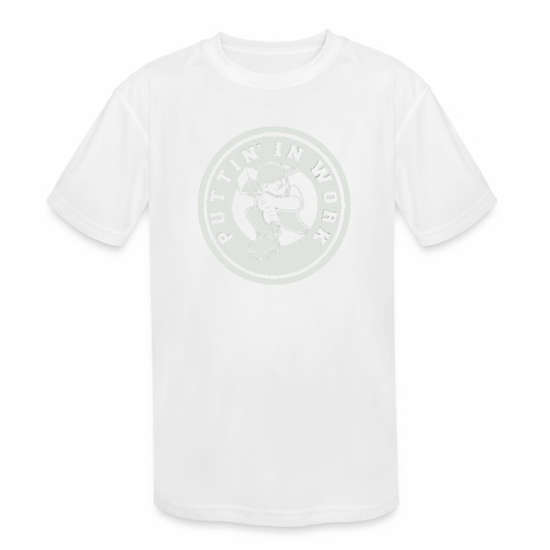 P.I.W White Logo - Kids' Moisture Wicking Performance T-Shirt