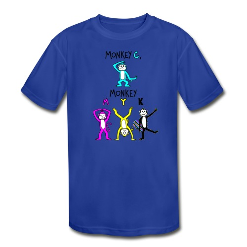 monkey see myk - Kids' Moisture Wicking Performance T-Shirt
