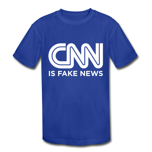 CNN Is Fake News - Kids' Moisture Wicking Performance T-Shirt