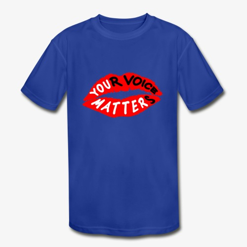 Your Voice Matters - Kids' Moisture Wicking Performance T-Shirt