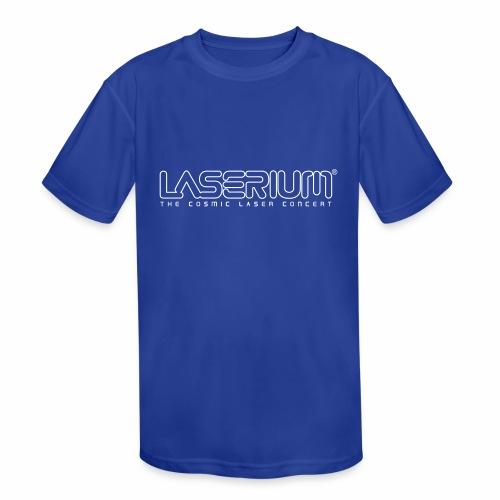 Laserium Logo OL White Tag - Kids' Moisture Wicking Performance T-Shirt