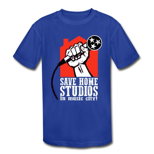 Save Home Studios In Music City - Kid's Moisture Wicking Performance T-Shirt