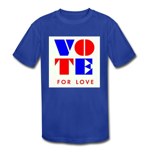 vote4love-sample - Kids' Moisture Wicking Performance T-Shirt