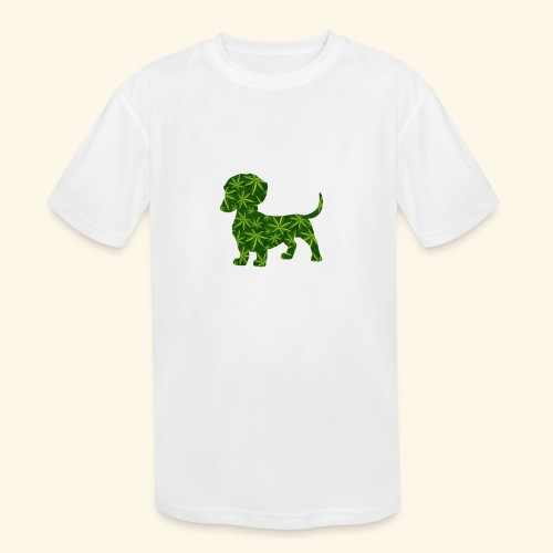 PUFFY DOG - PRESENT FOR SMOKING DOGLOVER - Kids' Moisture Wicking Performance T-Shirt