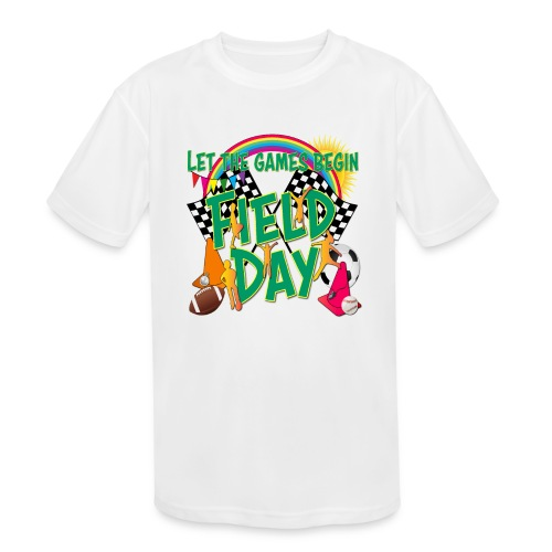 Field Day Games for SCHOOL - Kids' Moisture Wicking Performance T-Shirt