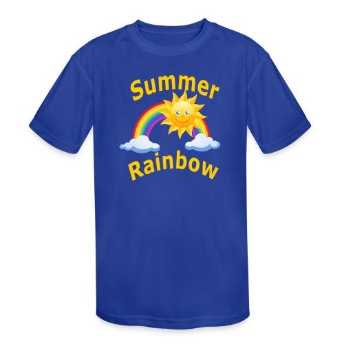 Summer Rainbow - Kids' Moisture Wicking Performance T-Shirt