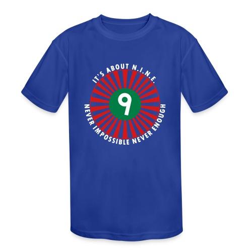 NINE Logo September 2018 - Kids' Moisture Wicking Performance T-Shirt
