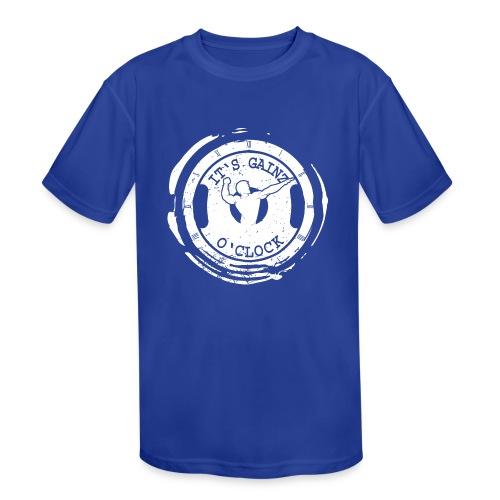 It's Gainz O'Clock - Kids' Moisture Wicking Performance T-Shirt
