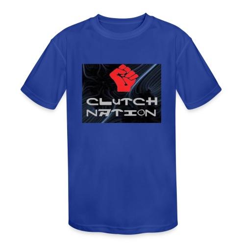 clutchnation logo merch - Kids' Moisture Wicking Performance T-Shirt