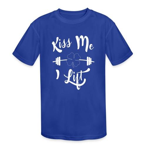 Kiss me, I lift! - Kids' Moisture Wicking Performance T-Shirt