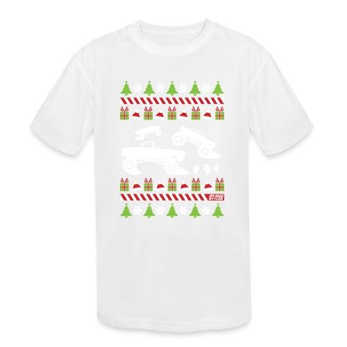 Mud Truck Ugly Christmas - Kids' Moisture Wicking Performance T-Shirt