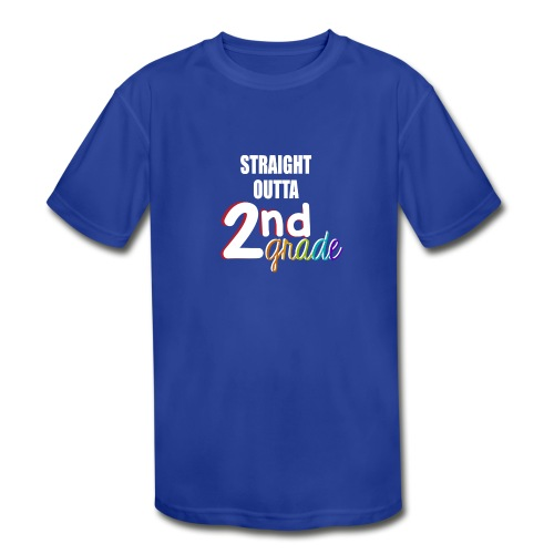 Straight Outta 2nd Grade - Kid's Moisture Wicking Performance T-Shirt