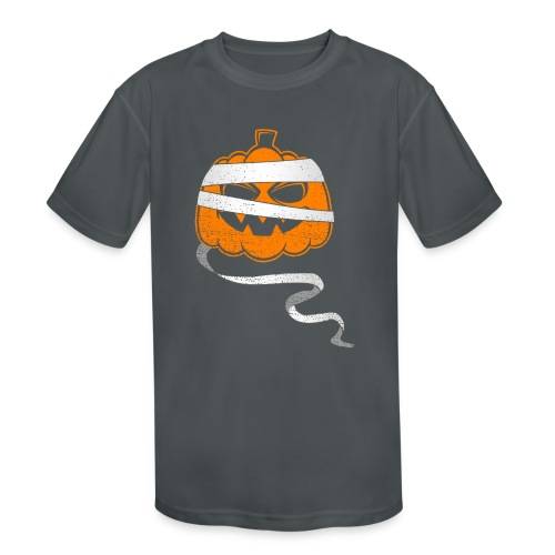 Halloween Bandaged Pumpkin - Kids' Moisture Wicking Performance T-Shirt