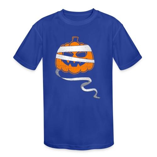 Halloween Bandaged Pumpkin - Kids' Moisture Wicking Performance T-Shirt