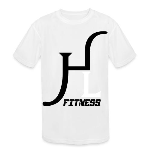 HIIT Life Fitness logo white - Kids' Moisture Wicking Performance T-Shirt
