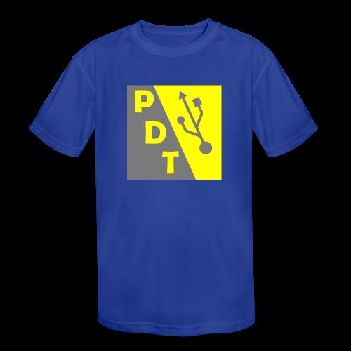 PDT Logo - Kids' Moisture Wicking Performance T-Shirt