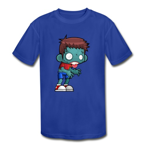 male zombie - Kids' Moisture Wicking Performance T-Shirt