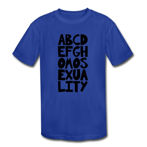 ABCDEFGHOMOSEXUALITY - Kids' Moisture Wicking Performance T-Shirt