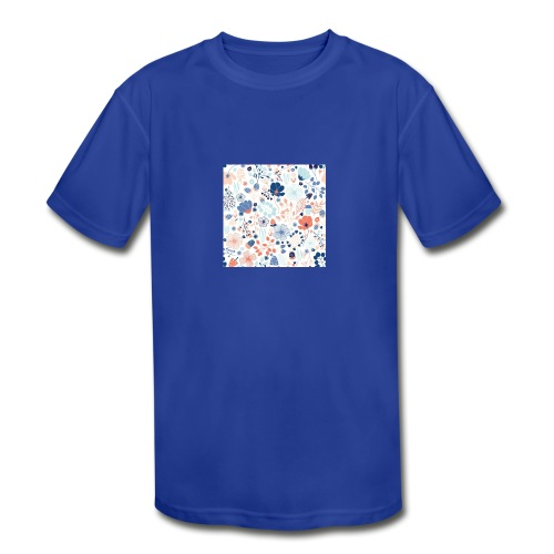flowers - Kids' Moisture Wicking Performance T-Shirt