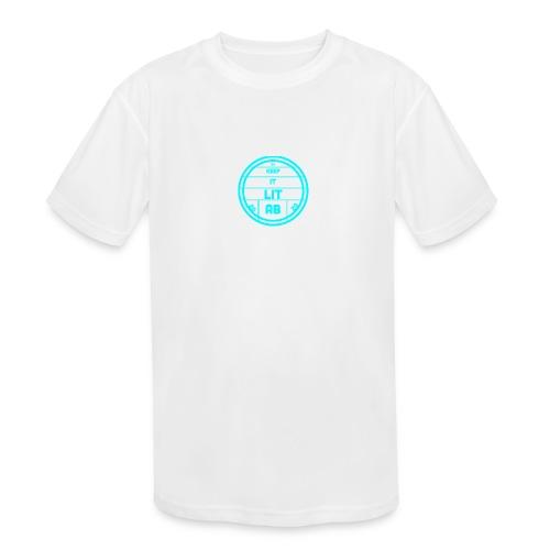 AB KEPP IT LIT 50 SUBS MERCH - Kids' Moisture Wicking Performance T-Shirt
