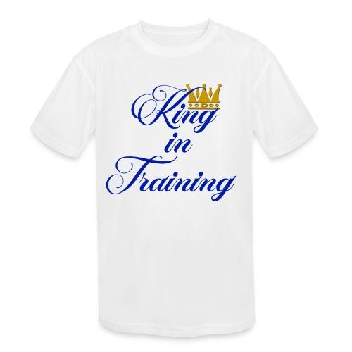 King in Training - Kid's Moisture Wicking Performance T-Shirt