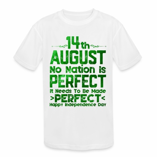 14th August Independence Day - Kids' Moisture Wicking Performance T-Shirt