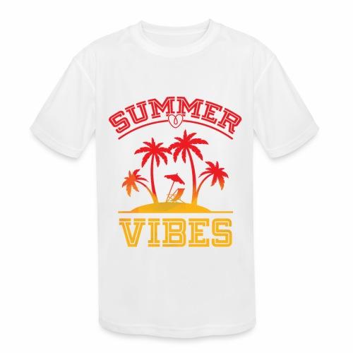 Summer Vibes - Kids' Moisture Wicking Performance T-Shirt
