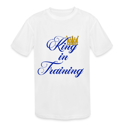 King in Training - Kids' Moisture Wicking Performance T-Shirt