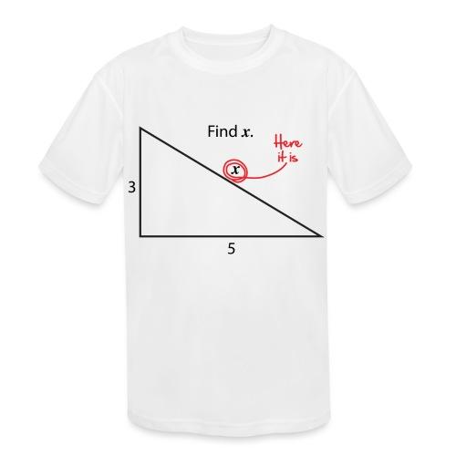 Find X - Kids' Moisture Wicking Performance T-Shirt