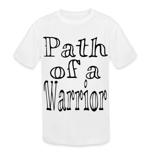 Path of a Warrior (White) - Kids' Moisture Wicking Performance T-Shirt