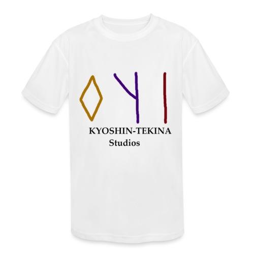 Kyoshin-Tekina Studios logo (black test) - Kids' Moisture Wicking Performance T-Shirt