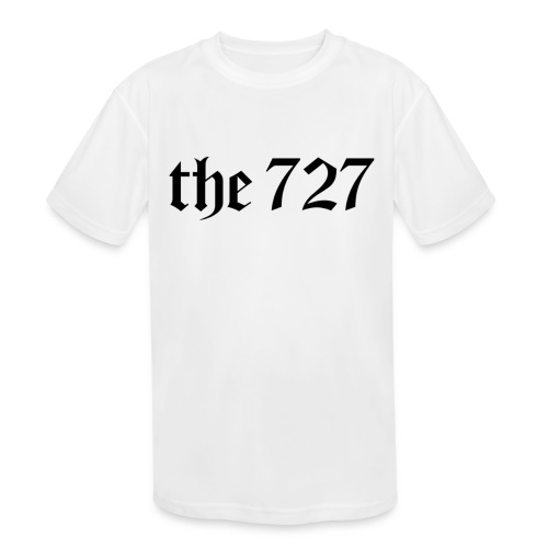 The 727 in Black Lettering - Kids' Moisture Wicking Performance T-Shirt