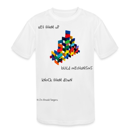 Hi I'm Ronald Seegers Collection-dominoes - Kids' Moisture Wicking Performance T-Shirt
