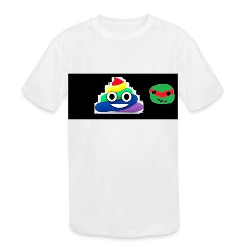 ninja poop - Kids' Moisture Wicking Performance T-Shirt