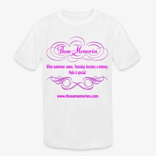 Those Memories logo - Kids' Moisture Wicking Performance T-Shirt