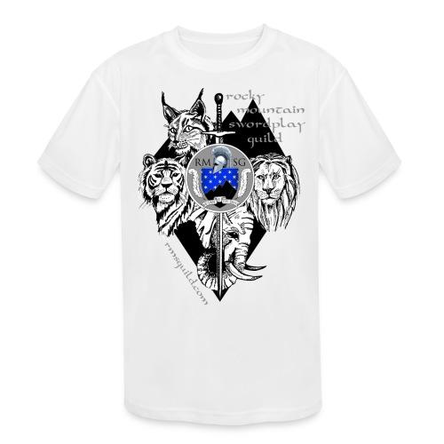 RMSG Fiore's Animals - Kids' Moisture Wicking Performance T-Shirt