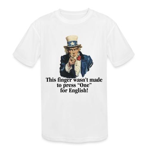 Uncle Sam - Finger - Kids' Moisture Wicking Performance T-Shirt