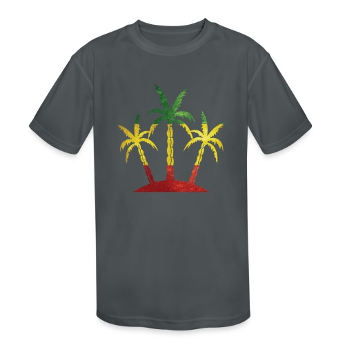 Palm Tree Reggae - Kids' Moisture Wicking Performance T-Shirt