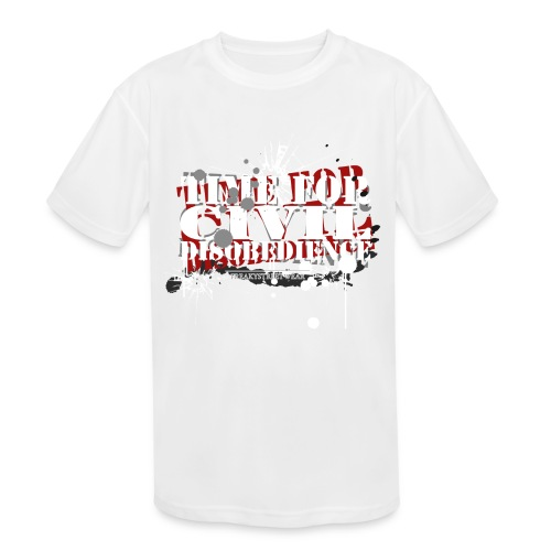 civil disobedience - Kids' Moisture Wicking Performance T-Shirt