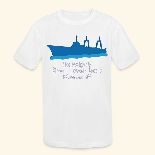 Eisenhower Lock Blue - Kids' Moisture Wicking Performance T-Shirt